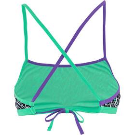 speedo ElectricStripe Allover Haut de maillot de bain Croisé dans le dos Femme, electricstripe black/white